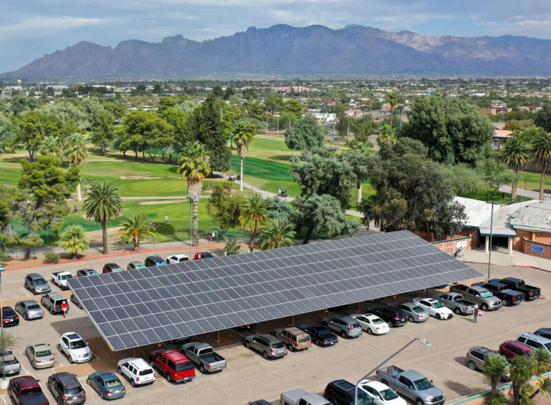 Solar Parking Canopy at El Rio Golf Course in Tucson